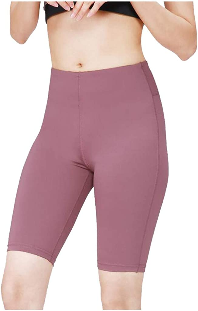 Hmazy Womens High Waist Body Building Yoga Pants,Solid Color Sports Tight Elastic Fitness Pants
