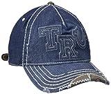 True Religion Men's Denim Raised Logo Ball Cap, Dark Indigo, One Size
