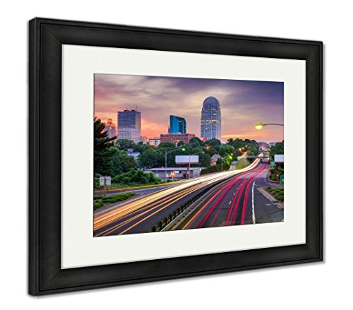 (Ashley Framed Prints Winston Salem North Carolina, Wall Art Home Decoration, Color, 26x30 (Frame Size), Black Frame, AG6133807)