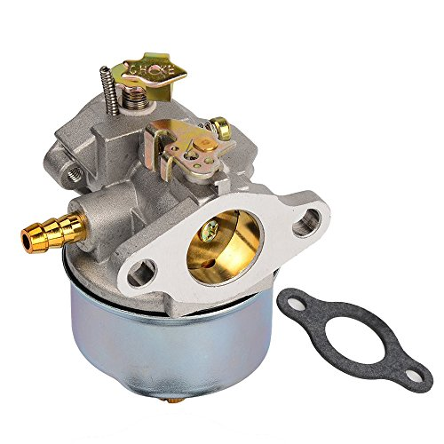 632230 Carburetor Carb Replacement with Gasket for Tecumseh 5HP 6HP H30 H50 H60 HH60 4-Cycle Horizontal Engine on Snowblowers & Troy Bilt Horse Tillers # 632230 632272 Snowblower Tiller