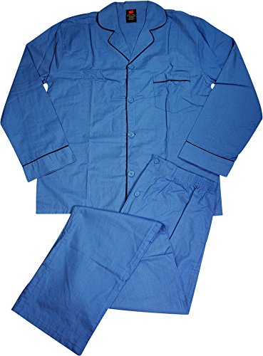 Hanes Mens Woven Pajamas, Blue 40283-X-Large