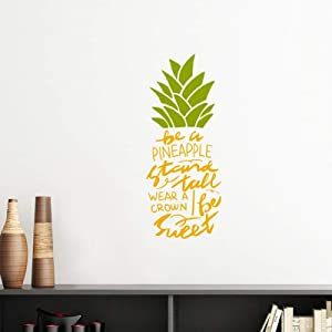 DIYthinker Be a Sweet Pineapple Fruit Quote Vinyl Wall Decoration Sticker Poster Wallpaper Decal Self Adhesive