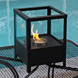Nu-Flame Tabletop Fireplace Sparo - Black with Glass (NF-T2SPO)