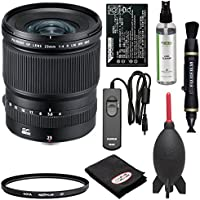 Fujifilm GF 23mm f/4.0 R LM WR Lens with Hoya UV Filter + NP-T125 Battery + RR-90 Remote + Cleaning Kit