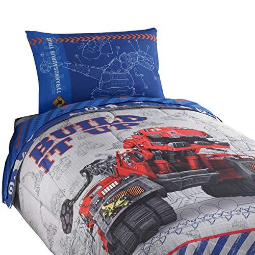 - Dreamworks 5pc Dinotrux Full Bedding Set Build It Up Ty Dinosaur Construction Comforter Sheets