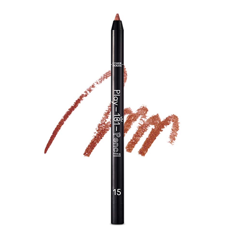ETUDE HOUSE Play 101 Pencil AD (#15 SHIMMER) | Soft Gel Texture and Super Blendable Colorful Multi-Pencil for a Flawless and Long-Lasting Makeup | Smudge-Proof Kbeauty Liner