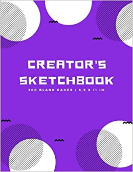 creators sketchbook blank drawing paper for drawing sketching doodling art extra large 200 pages arts and crafts volume 5
