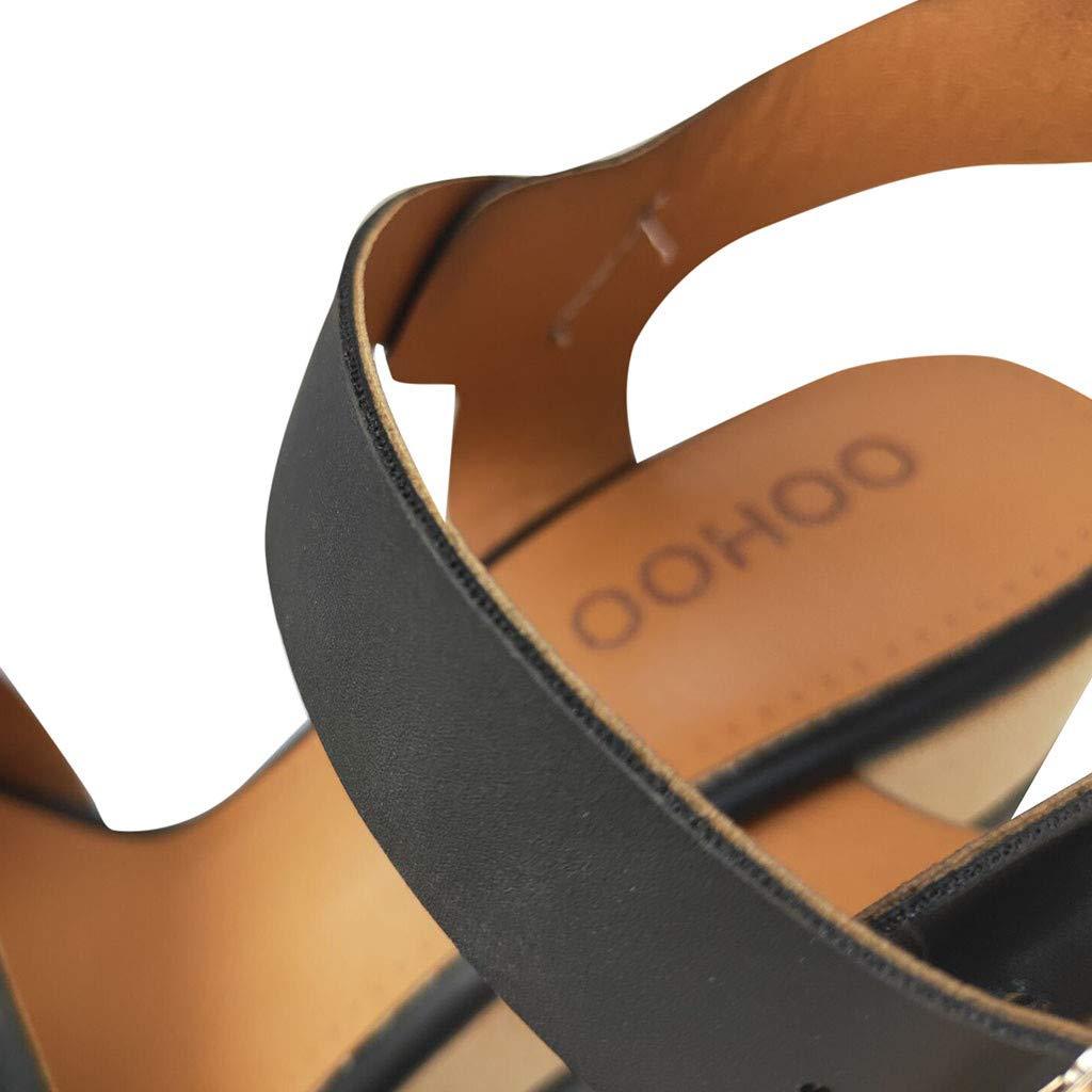 Wedge Platform Sandals for Women,FAPIZI New Comfy Soft Soles Dancing Shoes Casual Breathable Modern Sandals Black by FAPIZI Women Shoes (Image #4)