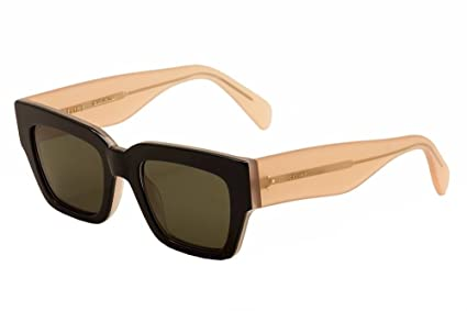 73047882077 Image Unavailable. Image not available for. Color  Celine 41078 S  Sunglass-06TV Black Opal Pink ...