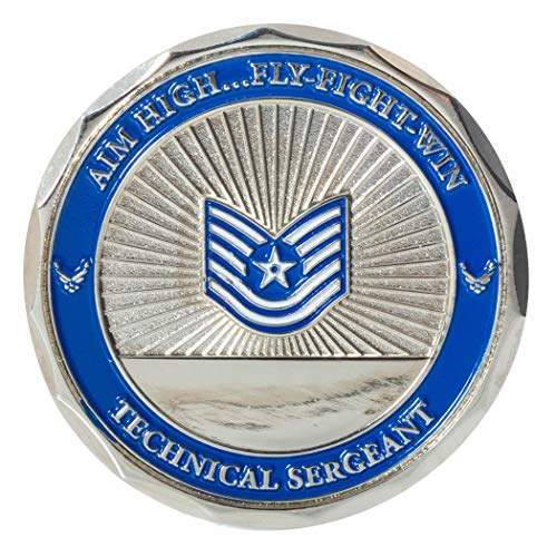 (United States Air Force Technical Sergeant Non-Commissioned Officer Rank Challenge Coin)
