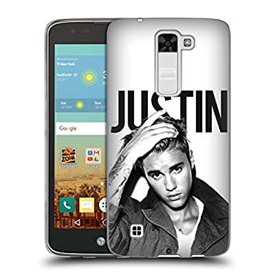 Official Justin Bieber Calendar Black And White Purpose Soft Gel Case for LG K7 / Tribute 5