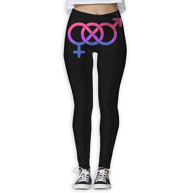 Amazon Com Klyujia Yoga Pants Women S Power Flex Bisexual Flag