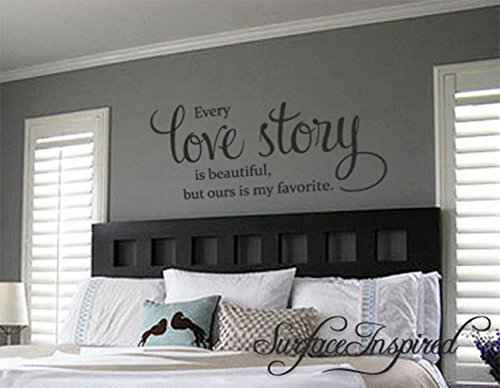 Cheap  Quote Wall Decal Every Love Story Is Beautiful Removable Wall Decals From..