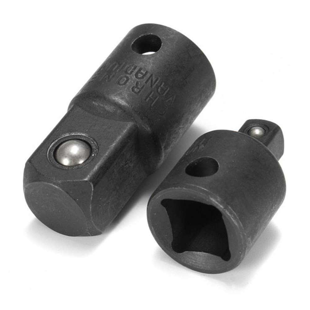 Doolland Adaptador de enchufe de impacto de aire de 2 piezas 3//8 a 1//4 y 1//4 a 3//8 pulgadas