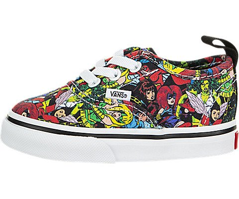 Vans Authentic Elastic Lace (Marvel) (Toddler)
