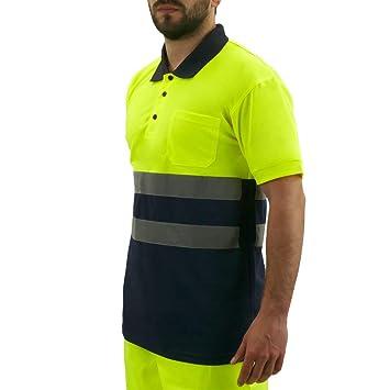 PrimeMatik - Camiseta Tipo Polo de Manga Corta Reflectante ...