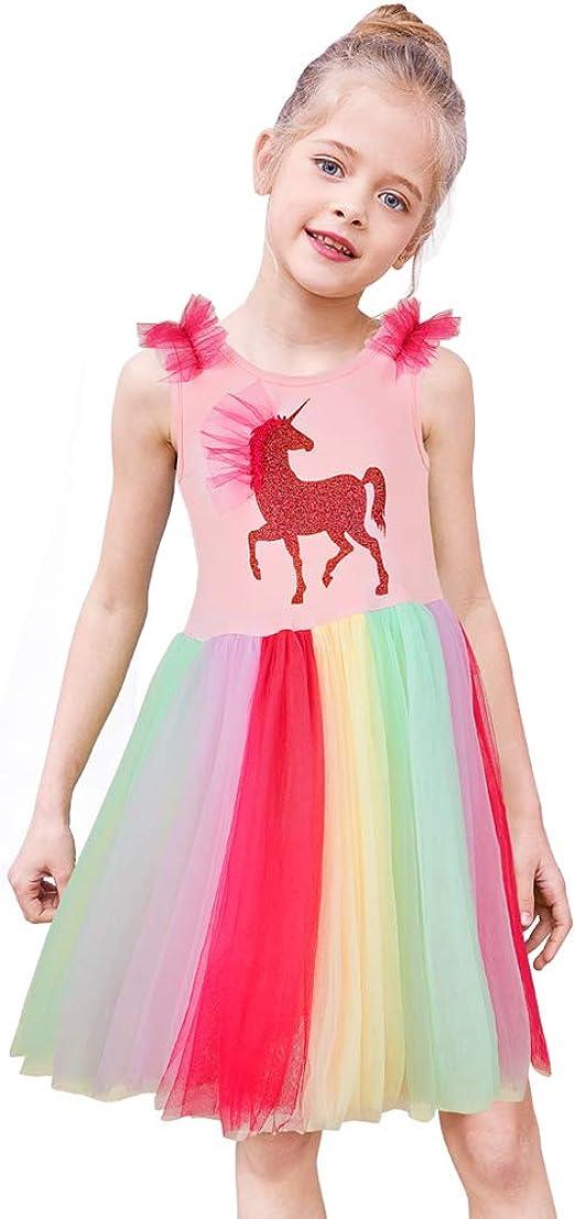 Amazon.com: MHJY - Vestido de unicornio para niñas, para ...