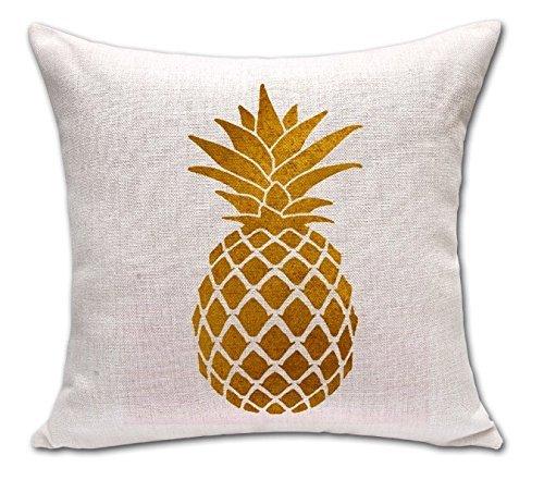18' Tropical Decor (Lovely Shape Tropical Pineapple Fruit War Massager Decorative Pillows Fiber Emoji Enjoyment Fiber Flax Gift Kids' Gift Partner POP Art)