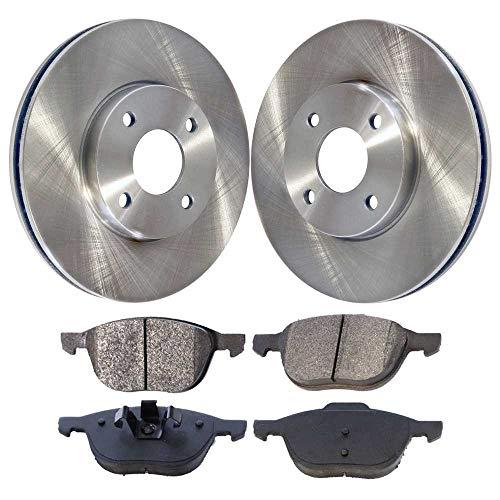 (Prime Choice Auto Parts RSCD64134-64134-1044-2-4 Set of 2 Premium Rotors & 4 Ceramic Pads)