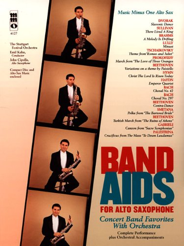 (Band Aids for Alto Saxophone: Concert Band Favorites with Orchestra (Music Minus One Alto Sax) )