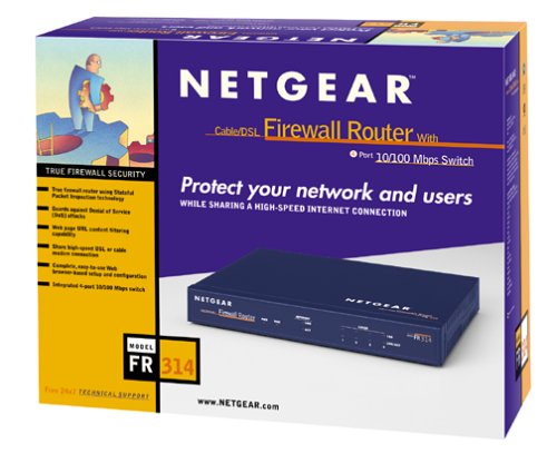 Netgear FR314 Cable/DSL Firewall Router with Integrated 4-Port 10/100 Switch