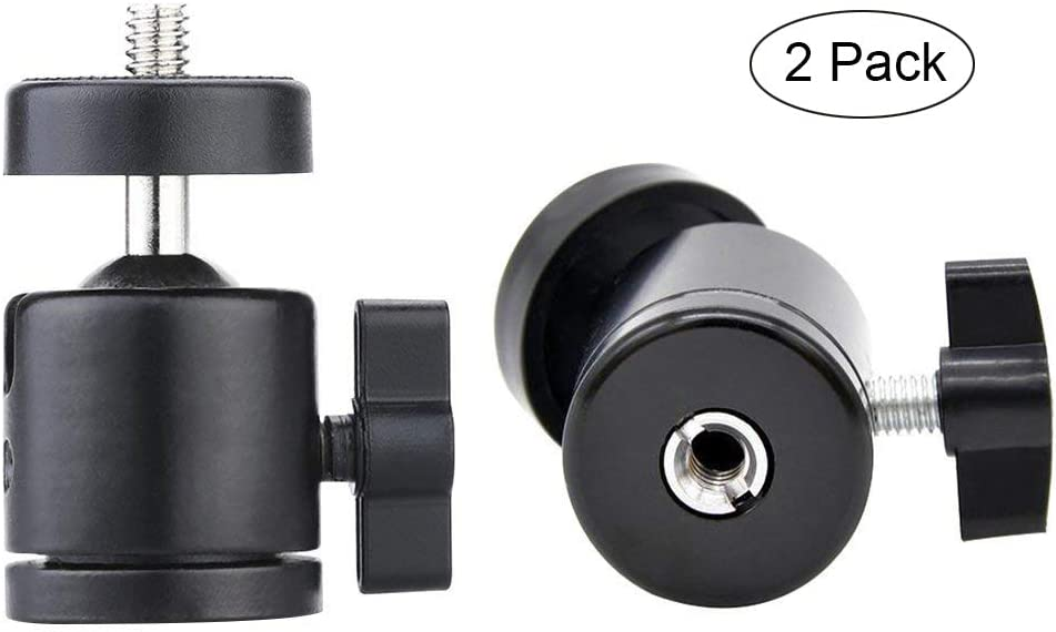 Lunies Mini Ball Head for HTC Vive Lighthouses Base Station Camera Camcorder HTC 360 Degree Tripod Adapter Ball Head Camera Mount Holder 1//4 Screw 2Pcs