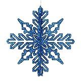 "Vickerman 540800-6"" Blue 3D Glitter Snowflake"