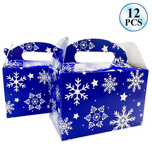 12Pcs Frozen Birthday Party Supplies Christmas Party Supplies Boxes Snowflake Treat Boxes for Christmas Holiday Christmas Party Favors, Party Favor Candy Cookies Boxes]()