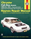 Chrysler Full-Size Models, 1988-1993, Larry Warren and J. H. Haynes, 1563920581
