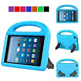 MENZO Kids Case for Amazon All-New Fire HD 8 2018/2017, Light Weight Shockproof Handle Stand Kids Friendly Case for Fire HD 8 inch (2017 and 2018 Releases) Tablet, Blue