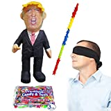 Donald Trump Pinata Kit Including Pinata, Buster Stick, Bandana and 3 lbs. Candy Filler