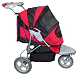 Pet Gear AT3 All-Terrain Pet Stroller for cats and dogs up to 60-pounds, Red Poppy, My Pet Supplies
