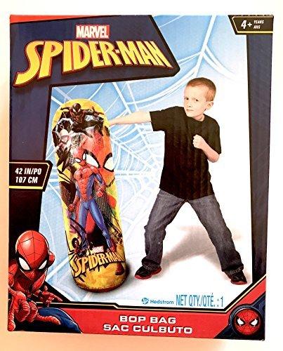 Marvel Spider-Man 42 inch (107 cm) Exercise Bop Bag for Indoor and Outdoor Play (Spider Bop Bag Man)