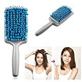 eco tools air dry hair brush - Aimeio Microfiber Bristles Quick Absorbent Dry Comb Drying Hair Brushes Absorbent Care Combs Radiation Protection for Women (Blue)