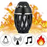 MGZONE Led flame speaker, Torch atmosphere Bluetooth speakers&Outdoor Portable Stereo Speaker with HD Audio and Enhanced Bass,LED flickers warm yellow lights BT4.2 for iPhone/iPad /Android