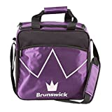 Cheap Brunswick Blitz Single Tote Bowling Bag, Purple