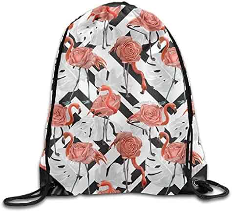 ff691317943c Large Capacity Drawstring Backpack Red Rose Flowers Waterproof Storage Bag  For Men And Women