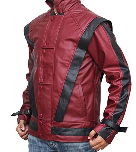 Fjackets Michael Jackson Leather Jacket - Red Thriller Leather Jacket L (Michael Jackson In Red Jacket)