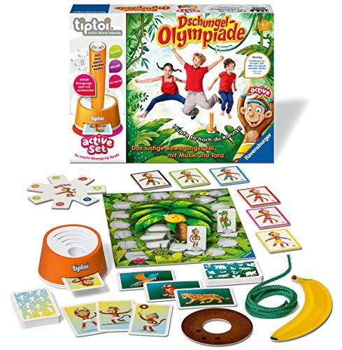 """Ravensburger tiptoi 00849 - active Set """"Dschungel-Olympiade"""" / Spiel von Ravensburger ab 4 Jahren / Freude an Bewegung im Team spielerisch und interaktiv erleben 2"""