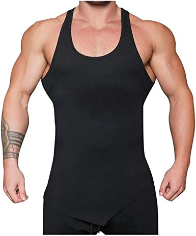 Men Mesh Tank Top Sleeveless Fitness Vest Wicking Sports Singlet Polyester Black