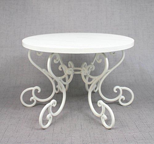 White Cake Stand Scroll Pedestal. Party or Wedding Platter. Cupcake Display. Cake Plate. Cake Table Decor. White Cake Plate (Pedestal Scroll)