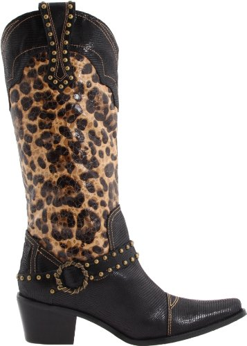 J.renee Donna Dakota Boot Leopardo E Stampa Lucertola / Ricamo