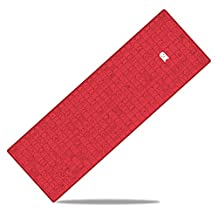 """SMILE FINGER - EXCO Extra Extended Gaming Mouse Pad , 35"""" x 12"""" x 3mm Thick , Large Mouse mat with Smooth Surface and Precise Tracking (Red)"""
