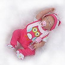 "Terabithia 23"" Realistic Sleeping Silicone Vinyl Full Body Reborn Baby Girl Dolls"