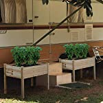 YAHEETECH Wooden Raised/Elevated Garden Bed Planter Box Kit for Vegetable/Flower/Herb Outdoor Gardening Natural Wood, 49 x 23.2 x 30.1in 17 Natural solid wood: This natural raised garden bed is made of non-paint, harmless 100% solid wood, which is known for its strength and dimensional stability as well as its natural resistance with a pleasing wooden smell. It is normal that there are wood knots on the surface. That's a natural phenomenon when the wood is growing. Single piece of side plate: Comparing to other planting beds that have several small pieces of wooden plates at the side, our planting raised bed has a piece of complete side plate at each side of the garden bed. This single-piece design makes the whole structure very stable, and the installation very easy. The side plates are fixed firmly without leakage of soil. Backache-friendly design: Given its 76.5cm/30.1'' height, people with backache/knee pain can easily manage the plants without bending down and taking the risk of pain. The thick solid wood boards are sanded well to prevent any undesired injury caused by wood splinters.