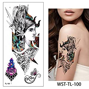 adgkitb 4 Piezas Mujeres joyería Tatuaje Temporal Pecho Cintura ...