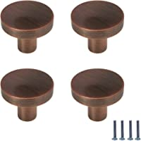"""Knobs for Dresser Drawers Karcy Cabinet Knobs Zinc Alloy Knob 0.98"""" Dia. with Mounting Screws Red Bronze Brushed Round…"""