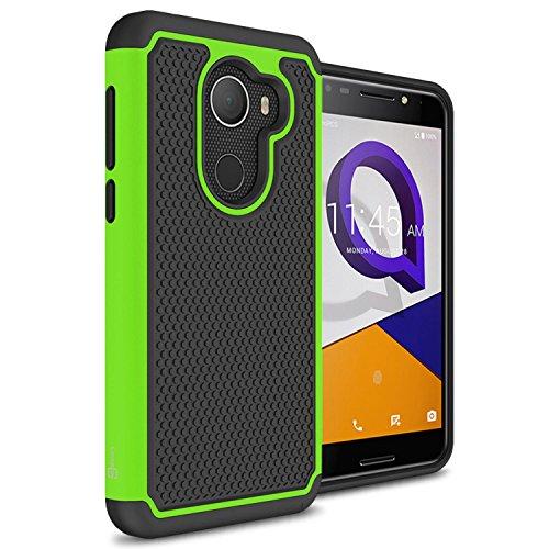 (T-Mobile REVVL Case, Alcatel A30 Plus Case, Alcatel A30 Fierce Case, CoverON HexaGuard Series Protective Hybrid Hard Phone Cover for Alcatel A30 Plus/T-Mobile REVVL / A30 Fierce - Neon Green)