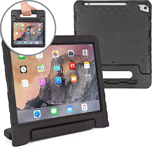 Cooper Dynamo [Rugged Kids Case] Protective Case for iPad Pro 12.9 3rd Generation 2018   Child Proof Cover: Stand, Handle, Pencil Charge Slot (Black)