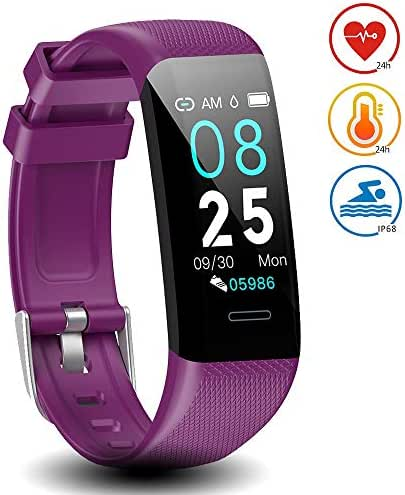 DoSmarter Waterproof Fitness Tracker with Heart Rate Blood Pressure Monitor,All-Day Activity Tracker Pedometer Watch with Step Calories Sleep Tracker, Smart Band Health Tracker for Man Woman Best Gift